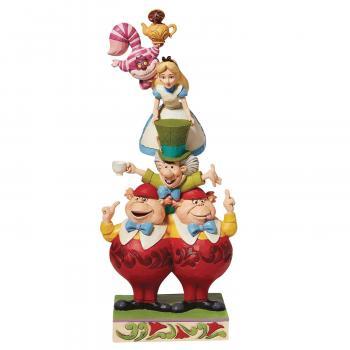 Disney Alice In Wonderland Stacked 10.82 inch Statue