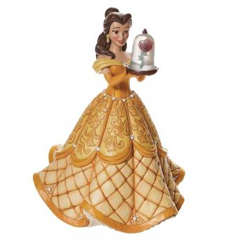 Disney Traditions Belle Deluxe With Rose 15 inch Statue