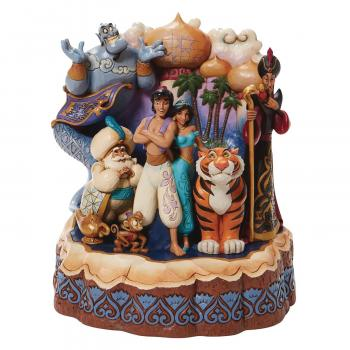 Disney Traditions Carved By Aladdin 7.67 inch Statue