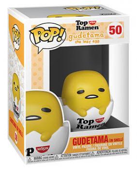 Gude x Nissin Top Ramen Pop Vinyl Figure - Gudetama in Shell