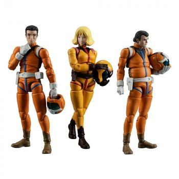 Mobile Suit Gundam G.M.G. Action Figure - 3-Pack Earth Federation Force