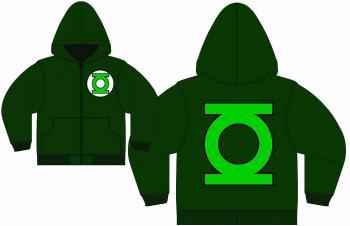 GREEN LANTERN LOGO GREEN PX ZIP-UP HOODIE XXL
