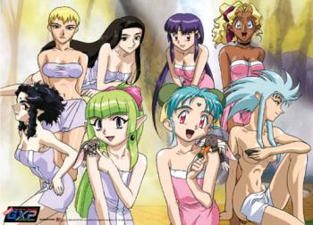 Tenchi Muyo! GXP Wall Scroll - Girls