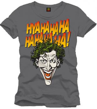 BATMAN T-SHIRT: JOKER HAHAHA - ANTHRACITE - SIZE L