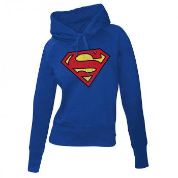 SUPERMAN LADIES HOODED SWEATER LOGO SIZE S