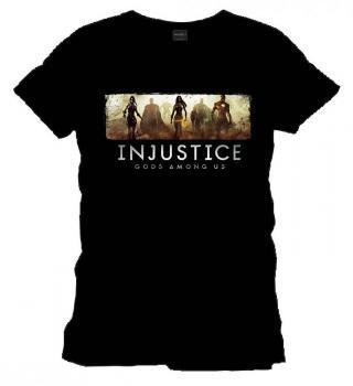 INJUSTICE T-SHIRT CLASSIC BLACK SIZE XXL