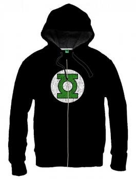GREEN LANTERN HOODED SWEATER LOGO BLACK SIZE S