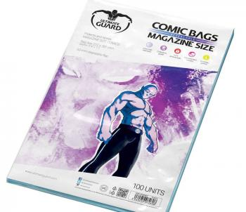 ULTIMATE GUARD COMIC BAGS RESEALABLE MAGAZINE SIZE (100)