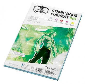 ULTIMATE GUARD COMIC BAGS BIG CURRENT SIZE (100)