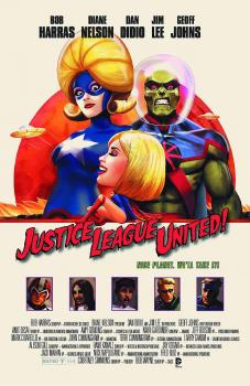 JUSTICE LEAGUE UNITED #10 MOVIE POSTER VAR ED