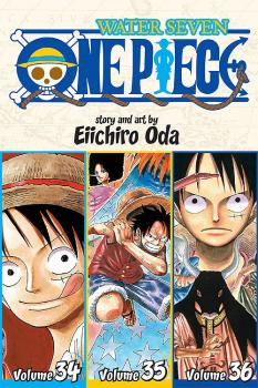 One piece Omnibus vol 12 (34-35-36) Water Seven GN Manga