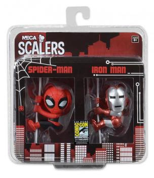 MARVEL COMICS SCALERS MINI FIGURES 2-PACK IRON MAN & SPIDER-MAN 5 CM (SDCC14 EXCLUSIVE)