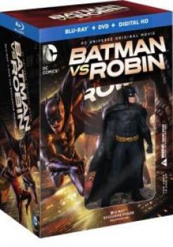 Batman vs. Robin Deluxe Giftset w/ Figure Blu-Ray