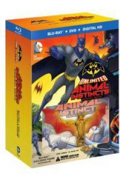 BATMAN UNLIMITED ANIMAL INSTINCTS (BLU-RAY/DVD/DIGITAL HD ULTRAVIOLET COMBO PACK) W/ FIGURE