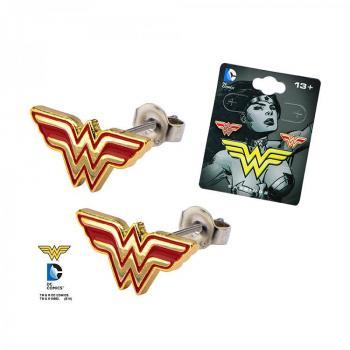 DC COMICS JEWELRY - WONDER WOMAN STUD EARRINGS LOGO
