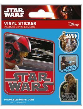 STAR WARS EPISODE VII VINYL STICKER FLASK PACK (5) RESISTANCE