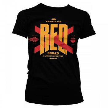STAR WARS EPISODE VII RED SQUAD GIRLY TEE BLACK SIZE S