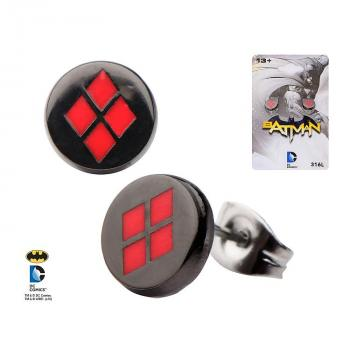 DC COMICS JEWELRY - HARLEY QUINN LOGO STUD EARRINGS