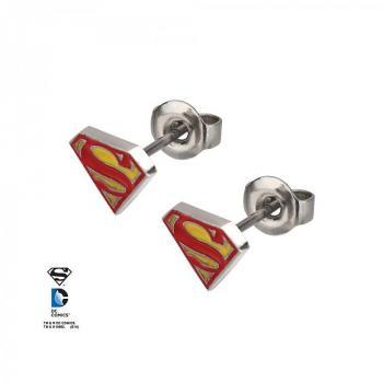 DC COMICS JEWELRY - SUPERMAN STUD EARRINGS STUD EARRINGS