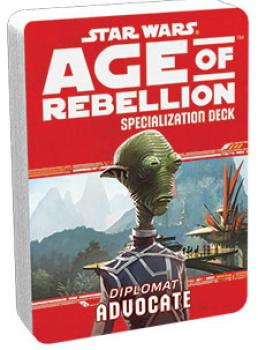Star Wars Age of Rebellion RPG Specialization Deck - Advocate