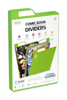 ULTIMATE GUARD PREMIUM COMIC BOOK DIVIDERS GREEN (25)