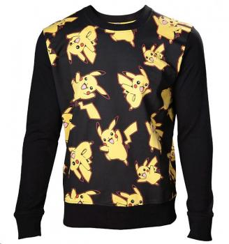 POKEMON SWEATER PIKACHU ALL OVER SIZE L