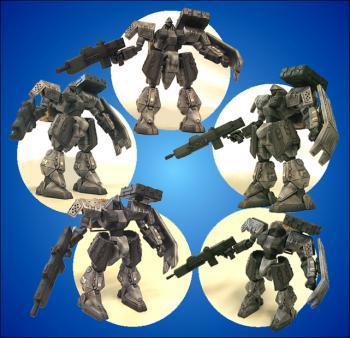 Front mission 3 series I action figures 03 Meledyne M1