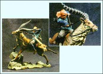 Princess Mononoke Ashitaka on Yakul plastic statue