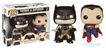 BATMAN V SUPERMAN POP HEROES VINYL FIGURE 2-PACK - METALLIC BATMAN & SUPERMAN (LIMITED)
