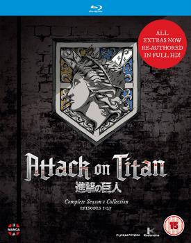 Attack on Titan Season 01 Complete Collection Blu-Ray UK