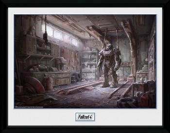 FALLOUT 4 FRAMED POSTER 30 X 40 CM - RED ROCKET INTERIOR