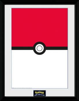POKEMON FRAMED POSTER 30 X 40 CM - POKEBALL