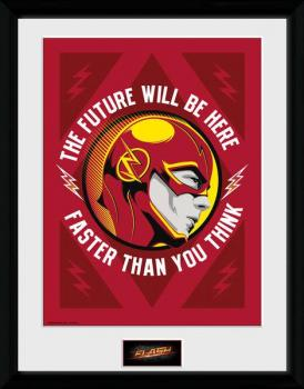 DCTV FRAMED POSTER 40 x 30 CM - FLASH - THE FUTURE