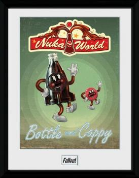 FALLOUT 4 FRAMED POSTER 30 X 40 CM - BOTTLE AND CAPPY