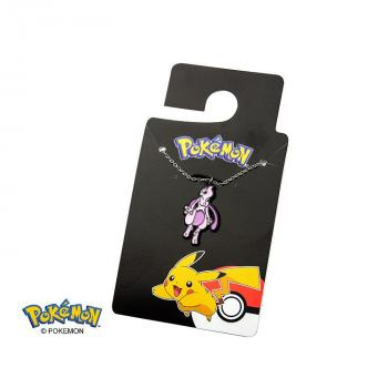POKEMON JEWELRY ENAMEL PENDANT WITH CHAIN - MEWTWO