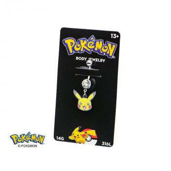 POKEMON JEWELRY NAVEL RING WITH PIKACHU DANGLE CHARM