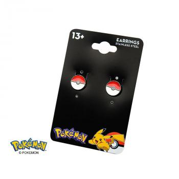 POKEMON JEWELRY STUD EARRINGS - POKEBALL
