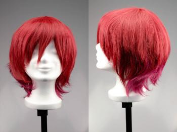 Cosplay Wig Short Spiky - Two Toned Red Pink