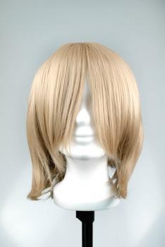Cosplay Wig short style - Brown Beige long sideburns + fringe