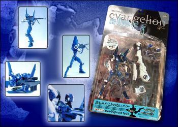 Neon genesis evangelion EVA unit 00 metallic figures Blue