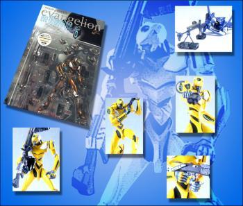 Neon genesis evangelion EVA unit 00 metallic figures Yellow