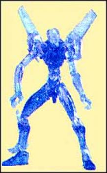 Neon genesis evangelion EVA unit 00 Blue transparant figure
