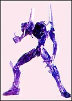 Neon genesis evangelion EVA unit 01 Purple transparant figure