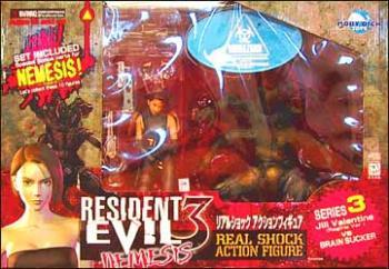 Resident evil 3 Jill Valentine (Regina version) and Brain sucker figure 2-pack