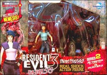 Resident evil 3 Jill Valantine (S.T.A.R.S. version) and Hunter B figure 2-pack