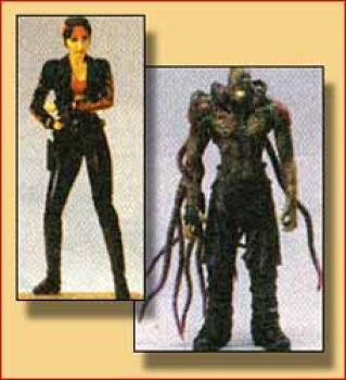 Resident evil 3 Claire Redfield (Leather jacket version) and Nemesis (type 2) figure 2-pack