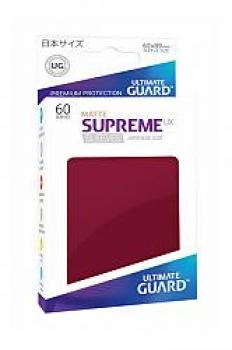 Ultimate Guard Supreme UX Sleeves Japanese Size Matte Burgundy (60)
