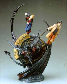 Final Fantasy VIII Resin statue Zell and Irvine vs Diablos