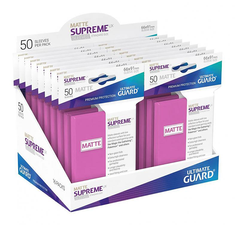 Ultimate Guard 50 Sleeves Supreme UX Standard Size Pink ...