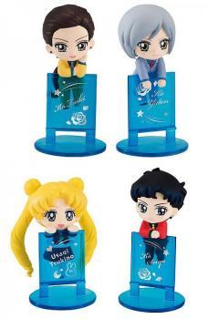 Sailor Moon Ochatomo Series Figure 4-pack Three Lights 5 Cm